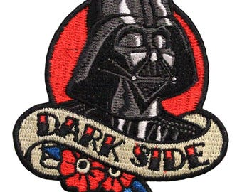 Official Disney Star Wars Darth Vader 'Dark Side' Iron On Embroidered Lucas-film Patch