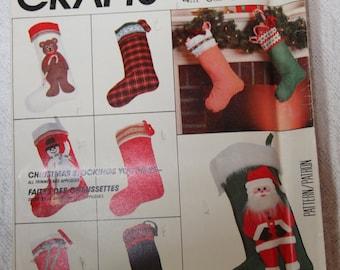 Christmas Stocking Vintage Sewing Pattern MCCALLS 776, UNCUT