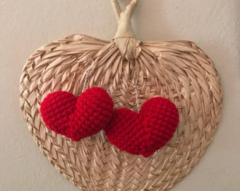 Crochet Hearts (Earrings)