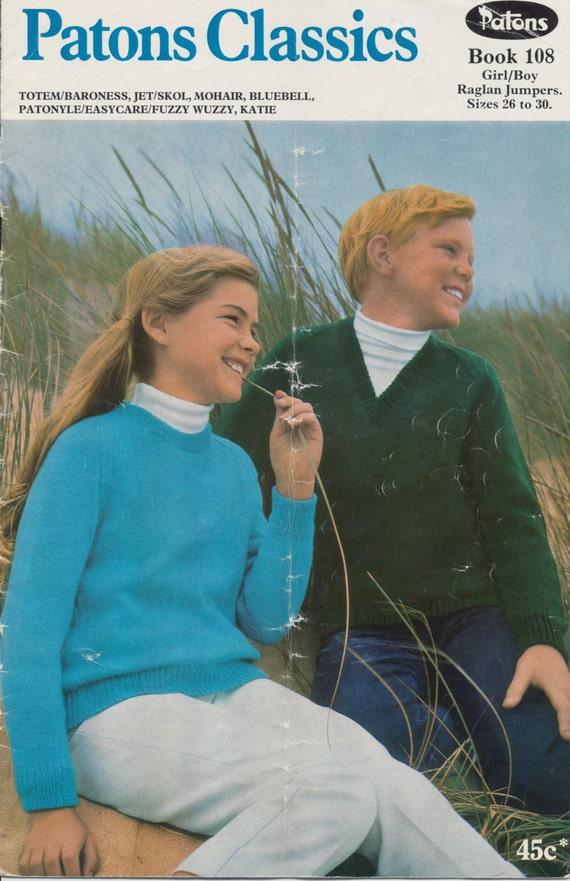 2 patrones de chico/chica que hacen punto vintage opciones