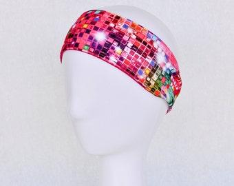 Wide pink headband, yoga headband, dance headband, workout headband, sweatband, activewear, head band, gift for her, pink gift