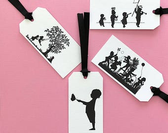 Gift Tags, Tags, Silhouette, Play Time,