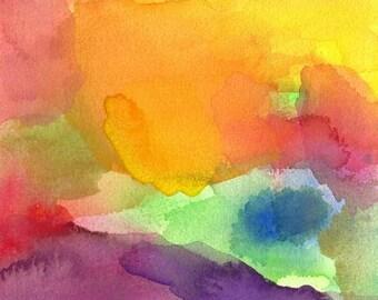 Art Print, Watercolor, Paradise, 16 x 20