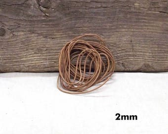 10 Yards (30 Feet) of Tan Leather Cording - Available in 3 Thicknesses - 1mm, 1.5mm, 2mm