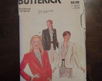 1987 Uncut Vintage Butterick Pattern 4057 Misses Jacket Size 12-14-16