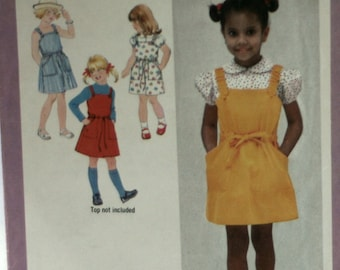 Simplicity 9091 - Girl's Sundress Sewing Pattern - Girl's Jumper Sewing Pattern - Girl's Blouse Sewing Pattern - New - Uncut - Size 4
