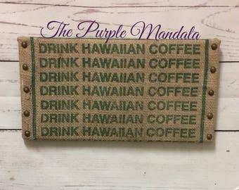 Drink Hawaii Coffee Sack Sign