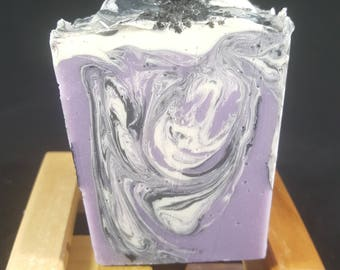 Blackberry Sage Cybilla Soap Handmade Cold Process CP from Scratch SLS Free Paraben Free Artisan