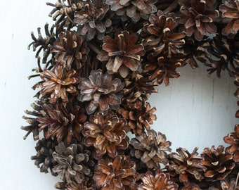 Pinecone Wreath Natural Door Wreath Rustic Pinecone Centerpiece Woodland Lodge Decor All Season Natural Holiday Christmas Wreaths Winter
