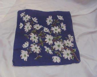 Hankie Beautiful Purple Floral Cotton Hankie Handkerchief
