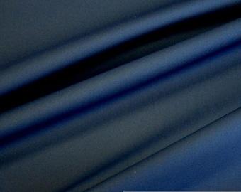 Fabric cotton polyester elastane denim dark blue blended fabric marine