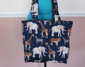 Jungle Animals Tote Bag