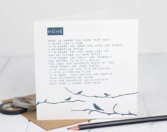 Sympathy card bereavement card sympathy poem card loss new home card new home poem card new neighbour card greetings card m4hsunfo