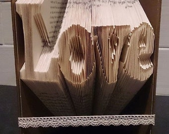 Book Folding Pattern Love