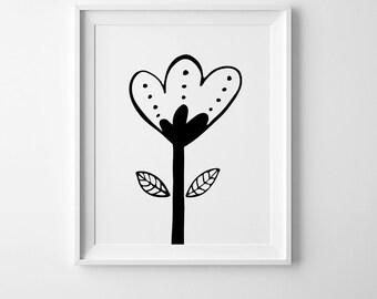 Scandinavian art, mini learners, floral print, nursery wall art printable art, nursery decor, flower print, floral wall art, nursery print