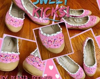 Sweet Kicks // Donut Shoes // Cupcake Shoes // Dessert Shoes // Handmade //  Custom Shoes // Handpainted Shoes // Donuts // Cupcakes // DIY
