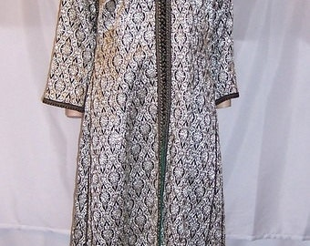 1920's Black and Silver Metallic/Lame Indian Robe