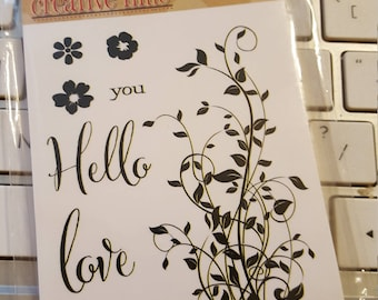 Hello You Stamp Set, Stamp Set, Sentiment Stamps, Clear Photopolymer Stamps, My Creative Time