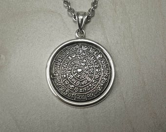 Sterling silver necklacemens necklacegreek symbol silver mens necklacephaistos discmens silver necklacephaistos pendantphaistos necklacemens greek symbolminoan necklaceminoan pendant aloadofball Choice Image