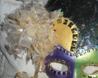 Fabulous Mardi Gras Carnival Artist Hand Painted Mask