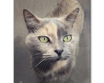 "8"" X 10"" Custom Pet Portrait Canvas Wrap (True-to-Life Digital Painting Style)"