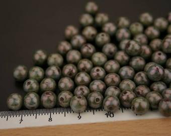 1 set of 20 Czech glass beads. (ref:3810).