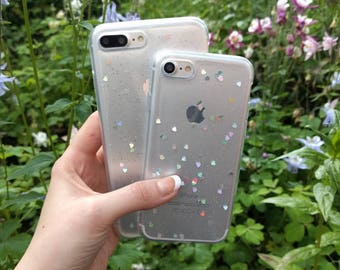 Holographic Glitter Hearts IPhone Case for IPhone X 7 7 Plus 8 6 6s 6 plus and 6s plus