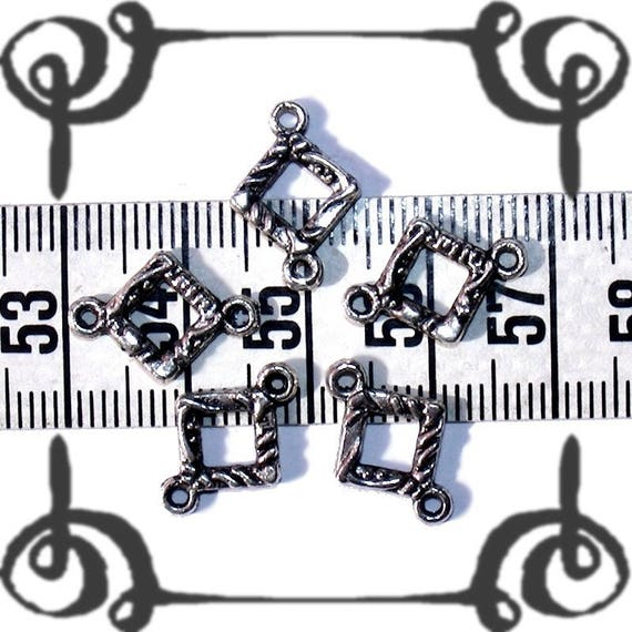 1 perle connecteur losange 16 x 11 mm