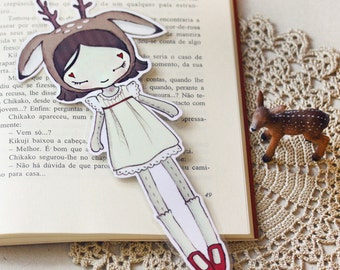 The Lovely Little Deer - bookmark - made to order