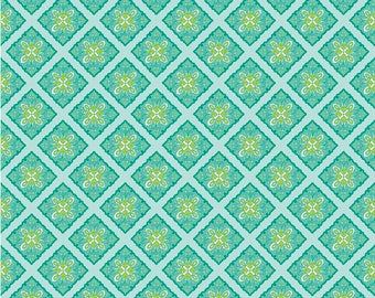 Half Yard - Riley Blake - Primavera - Tile Teal by Patty Young