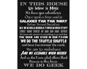 We Do The Truffle Shuffle Poster