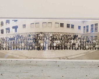 San Francisco Yard Long Photo, Galileo High School Panoramic Photo, Class of 1939 Black and White