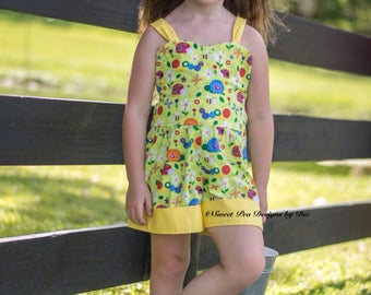 Girls romper, ladybug, butterfly romper, little girls romper, summer outfit, toddler romper, summer romper, baby clothing, girls clothing,