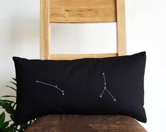Personalised constellation map cushion cover - Constellation pillow - Zodiac pillow - Star constellation - Zodiac cushion - Star map -