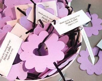 100 Piece Bucket of Love© Plantable Flower Seed Wedding Favors - Wedding Shower - Baby Shower - Keepsake Tin - Seed Paper - Eco Friendly