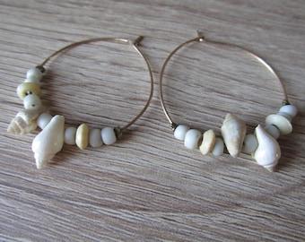 Seashells Earrings handmade