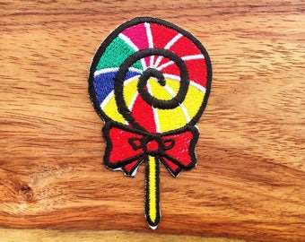 Lollipop Cute Hippie Fun Smile Iron On Patch New