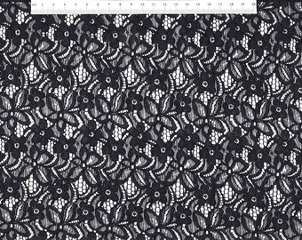 Lace Fabric HS5002-14 with floral pattern