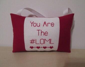 Custom Husband Boyfriend Gift Pillow Girlfriend Wife Personalized Sweetheart Love Cross Stitch Text Door Hanger Room & Door pillow | Etsy