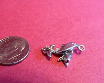 Twenty Pewter Dolphin Charms