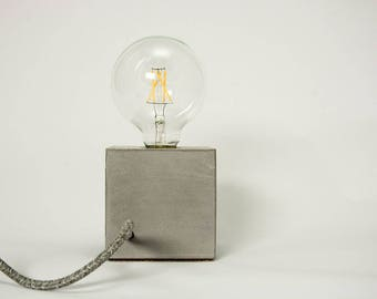 Concrete Cube Table Lamp
