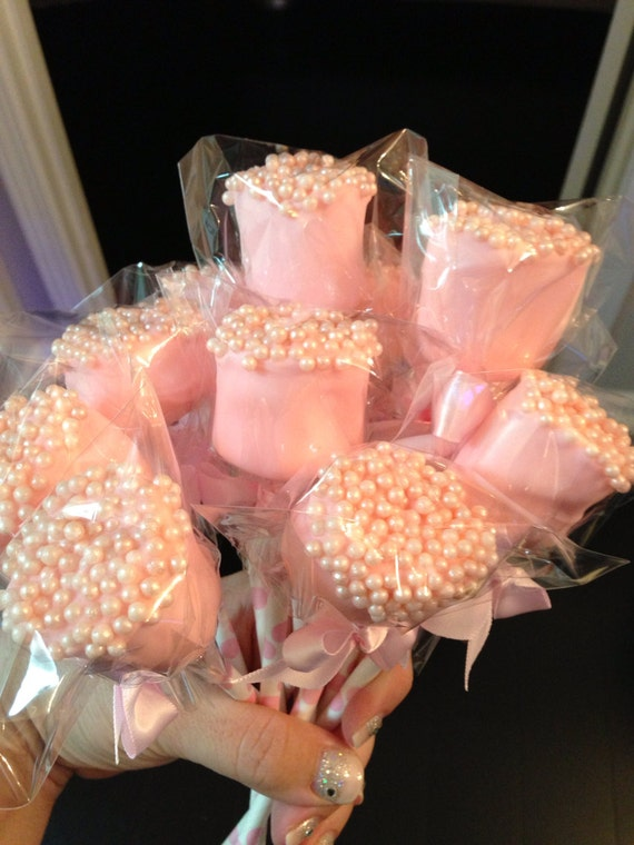 Edible Chocolate Dipped Marshmallows Frost The Cake