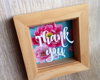 Thank you frame, thank you gift, vinyl quote frame, teacher gift, thank you teacher gift, thank you present