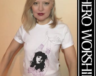 Kate Bush Hand Screen-Printed T-shirt by Shannon Perry