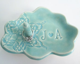 Ring holder, ring dish, Bridal shower gift, cloud  ring holder gift, Bride to be gift,  ring dish, Ceramic pottery, Made to Order