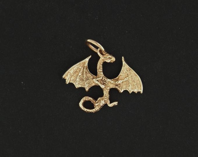 Dragon Pendant in Antique Bronze