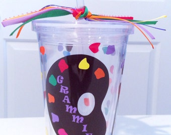 Personalized Art Tumbler Cup Glass