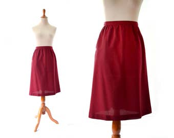 Brick Red Skirt, Vintage Skirt, Womens Skirts, Small Skirt, Medium Skirt, pencil Skirt, Vintage Clothing, Modest Skirt Summer Skirt