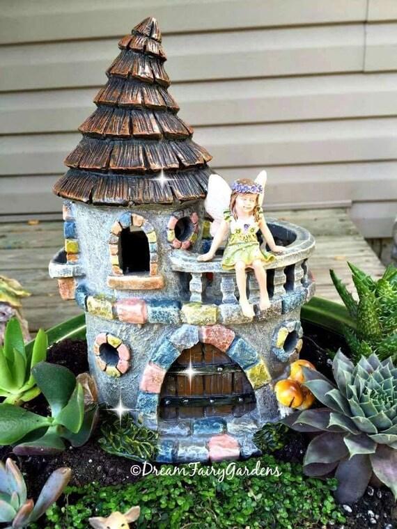 Lovely Fairy Garden, Fairy Castle, Fairy Tale Castle, Miniature Castle, Miniature  Garden, Small Castle, Fairy Garden Castle