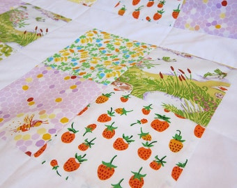 Strawberry Garden Baby Quilt